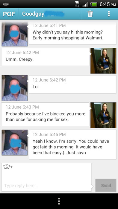 Creepy POF asshole